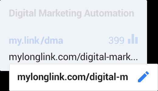 Editable destination URLs