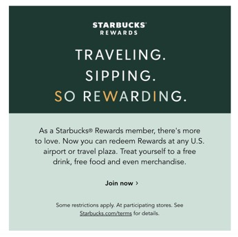 Starbucks brand personality and consistency email example