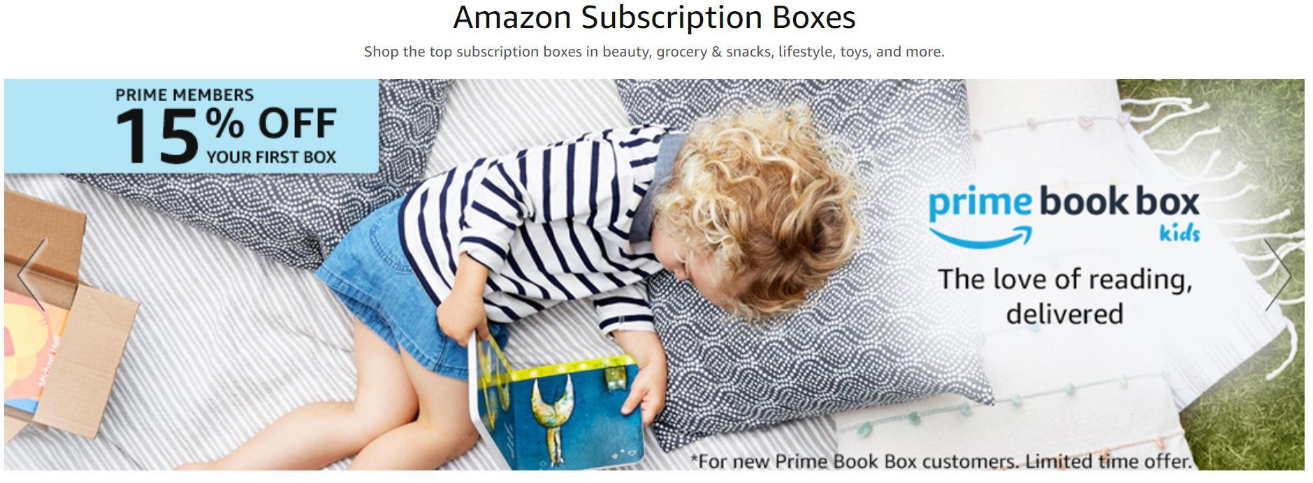 Amazon's subscription boxes