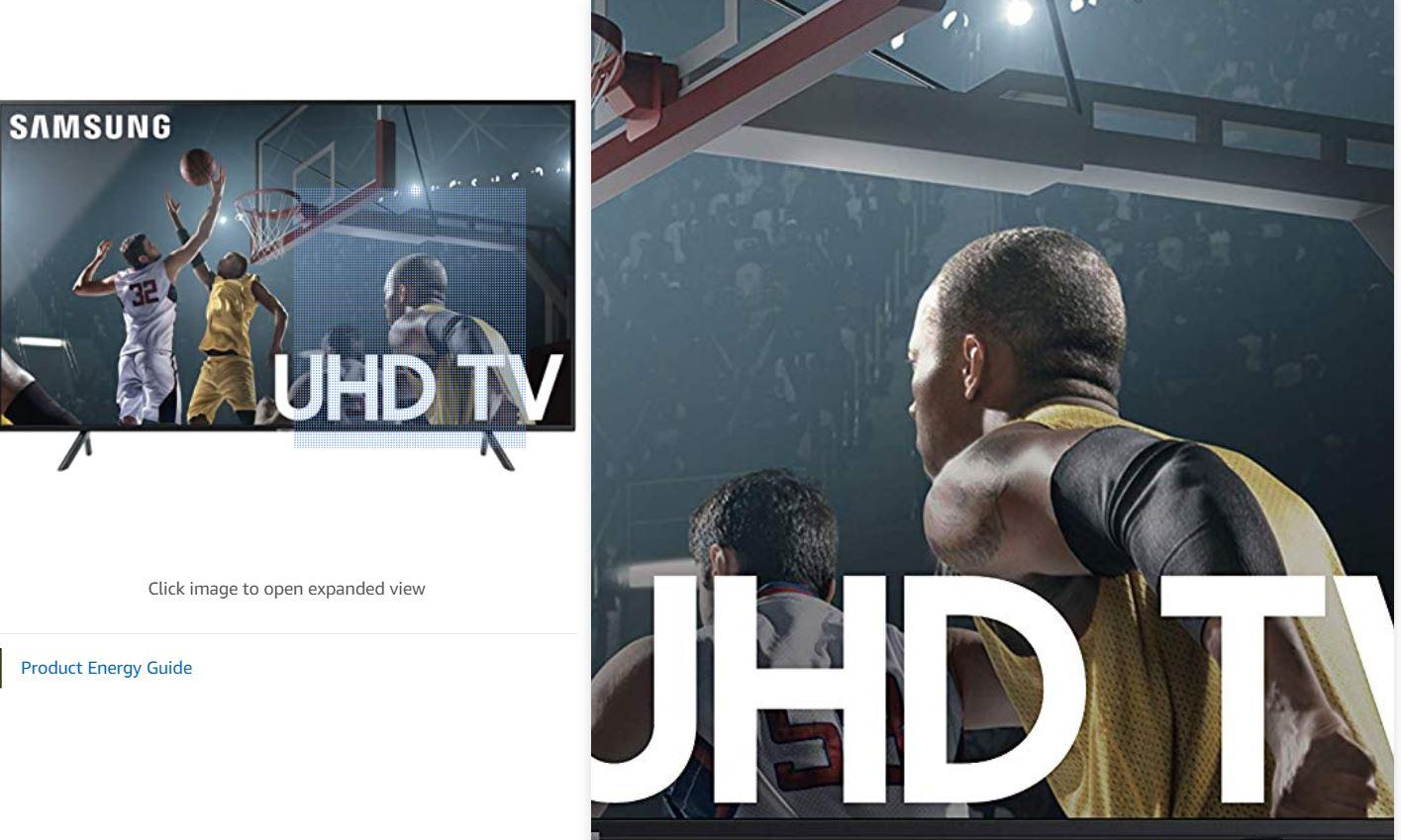 Product photo: Samsung UHD TV