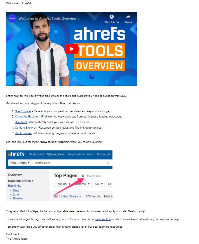 ahrefs example
